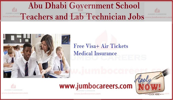 UAE job openings with salary, free visa air ticket jobs in Abu Dhabi,