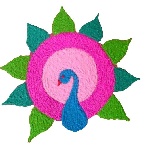 easy colourful rangoli designs for home