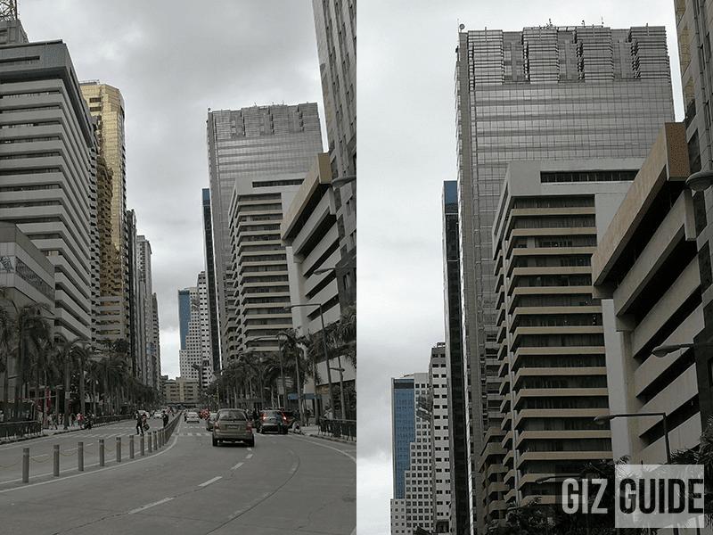 Normal vs 2x hybrid zoom