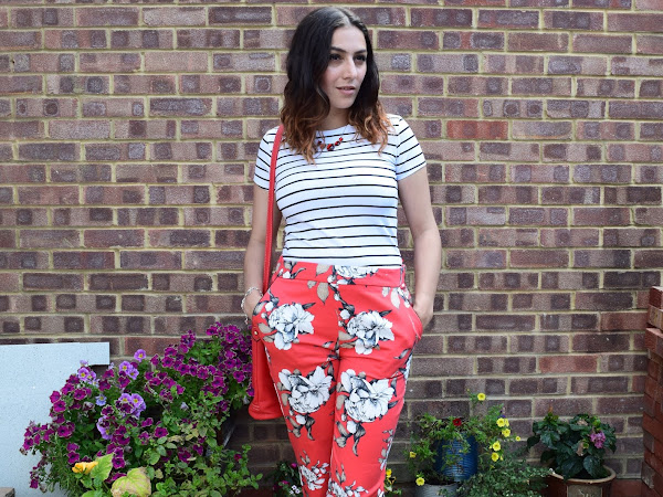 What Cat Wore | Red Florals & Striped Tees