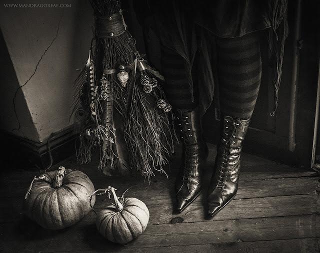 Witch Boots & Broomstick, Besom Broom by Aker Dantzaria, Victoria Francés