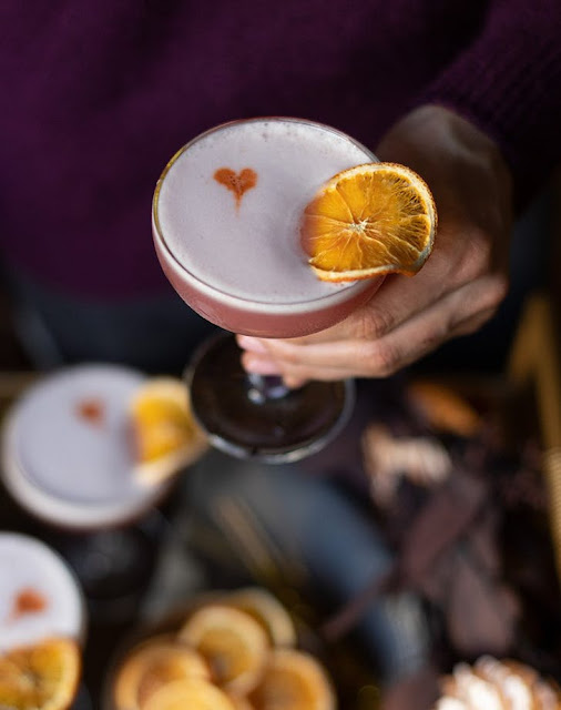 cranberry spiced whiskey sour