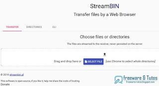 StreamBIN : partage de fichiers