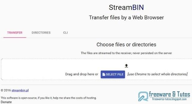 StreamBIN : un service de partage de fichiers original