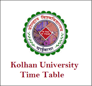 Kolhan University Time Table Pdf Download B.Sc Nursing/PG Exam Date