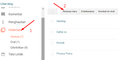 Cara Membuat Daftar Isi Atau Sitemap Di Blog