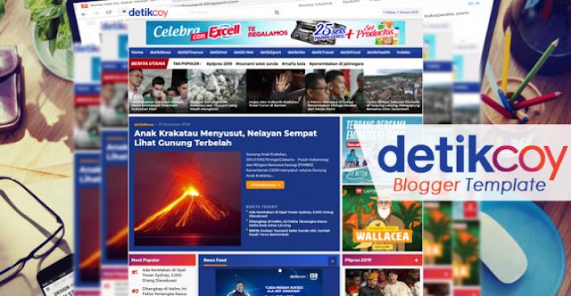 download template mirip detik, DetikCoy Template Blogger