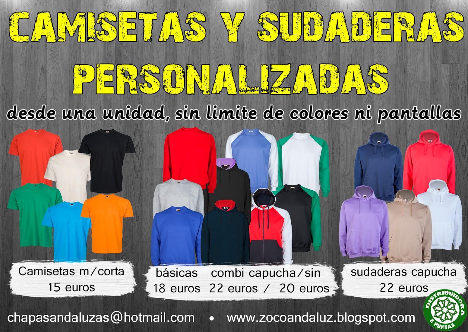 d3a283a6f42 Camisetas y sudaderas personalizadas, desde una unidad y sin límite de  colores ni pantallas