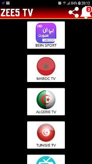 تحميل تطبيق ZEE5 TV_zee5.tv2.apk لمشاهدة القنوات و البث المباشر للمباريات و الافلام و المسلسلات