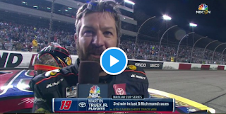 Who won the nascar race today