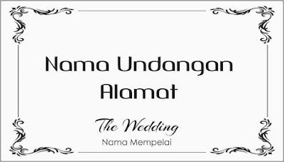 Label Undangan Pernikahan Tema Klasik