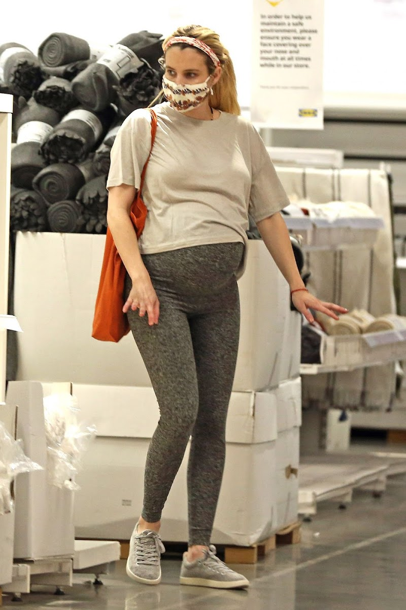 Emma Roberts Shopping at Ikea Store in Los Angeles  18 Nov-2020