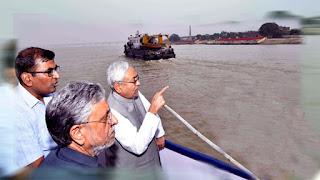 CM Nitish Kumar inspected Ganga Ghats