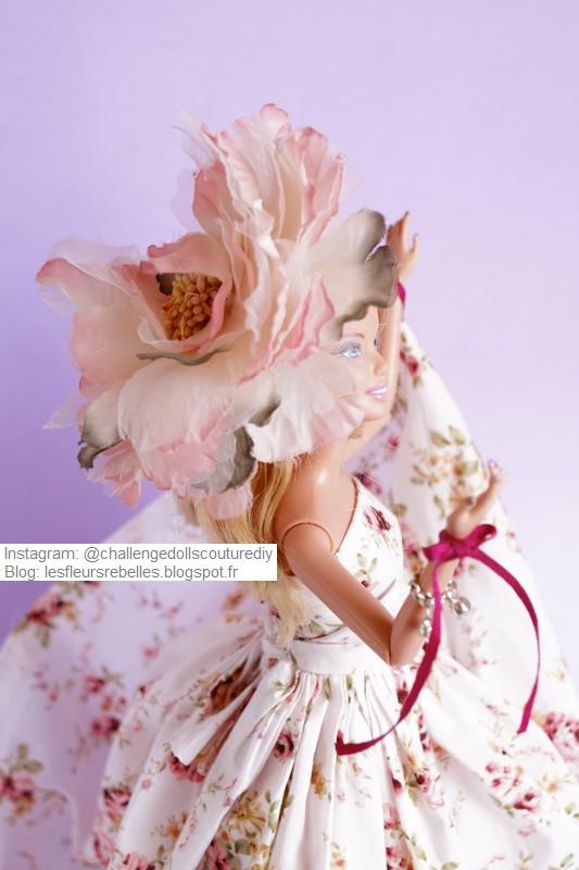 Détail chapeau fleuri
