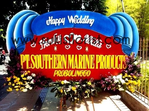 karangan-bunga-papan-ucapan-happy-wedding-kirim-sidoarjo