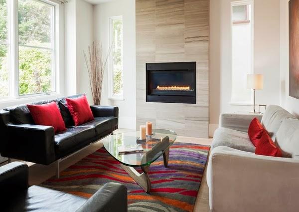 Salas Modernas Con Chimenea Colores En Casa