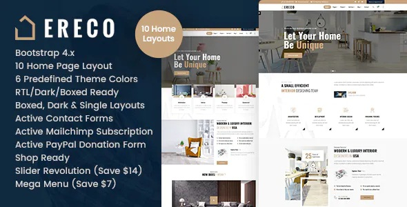 Best Architecture and Interior Design HTML Template