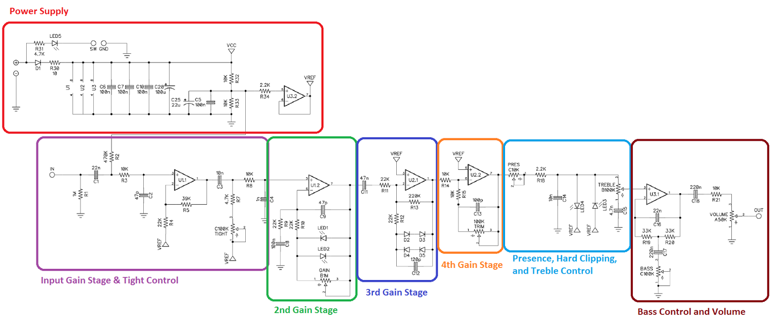 volume pedal buffer diagram [ 1600 x 678 Pixel ]