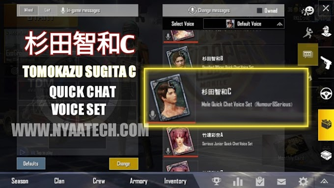 Active.sav | 杉田智和C Humor & Serious Japanese Quick Chat Voice Set for PUBG Mobile