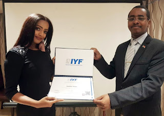H.E. Ambassador Saeed ZAKI, and Ms. Ebtihal Alkanzy
