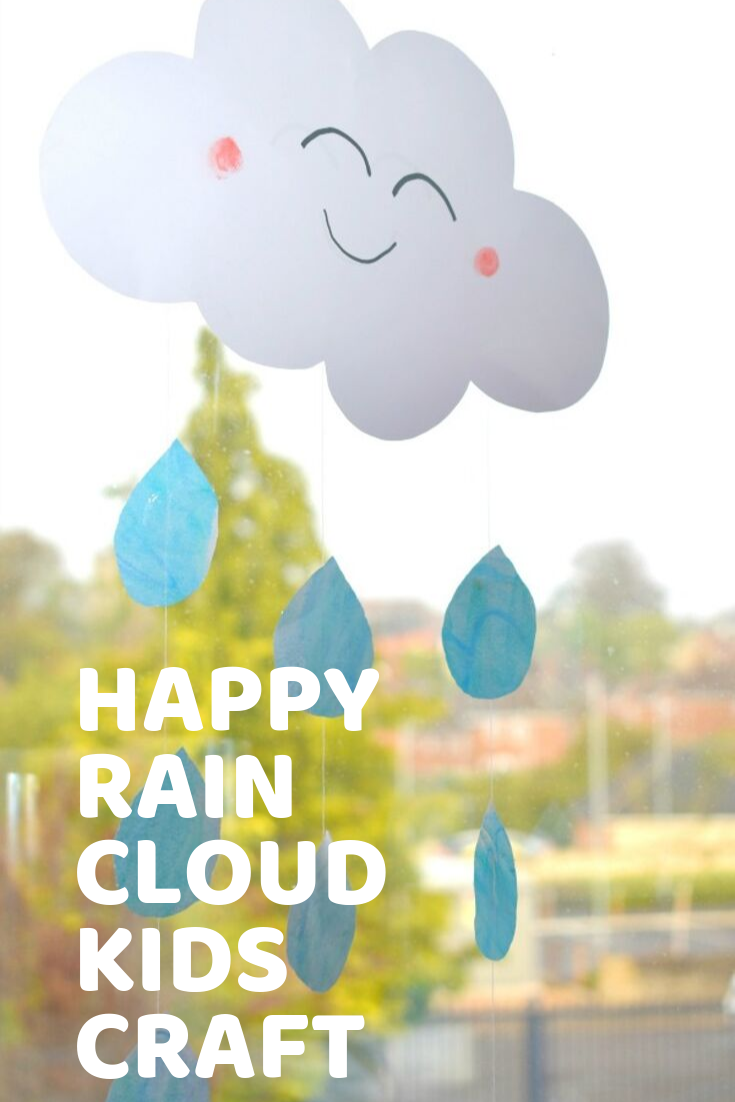 Happy Rain Cloud Craft For Kids