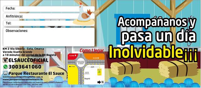 Invitacion editable granero azul paquetes fiesta cumpleaños Bogota