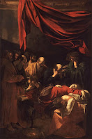 Death of the Virgin (circa 1606) by Michelangelo Merisi da Caravaggio, created in the household of Colonna Family