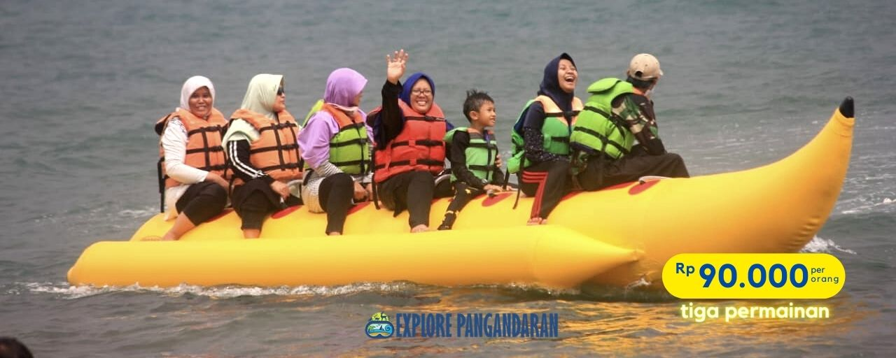 paket watersport banana boat pangandaran
