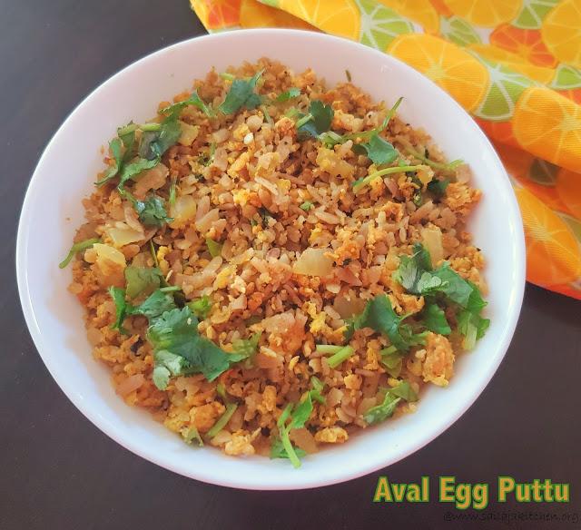 images of Aval Egg Puttu / Poha Egg Puttu / A Quick Breakfast Recipe Egg Aval Puttu