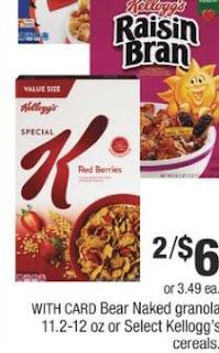 Kelloggs Special K Cereal- 2/$6