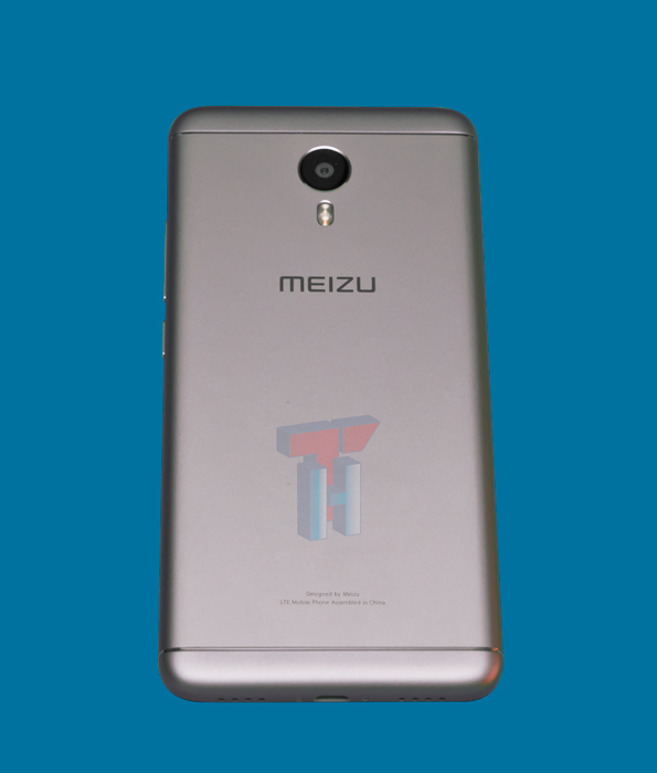 Parte posterior del Meizu m3 Note