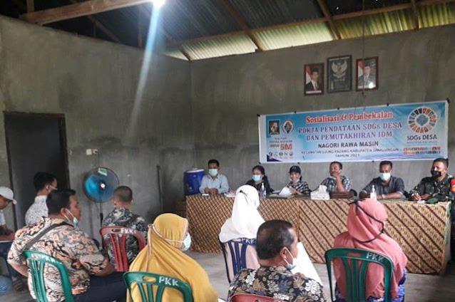 Sosialisasi Pembekalan Pokja Pendataan SDGs Desa dan Pemutakhiran IDM Dihadiri Personel Jajaran Kodim 0207/Simalungun