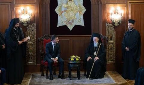 Az ukrán elnök a konstantinápolyi ökumenikus pátriárkával találkozott Isztambulban