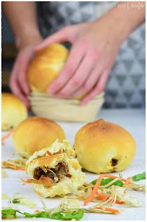 Pan de carne envuelto en masa-Pan de campo con carne asada- Receta Pan de Carne-Receta de pan de carne relleno-