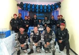 Militares da Rotam e Choque participam de aniversário de menino de 12 anos que sonha em ser policial