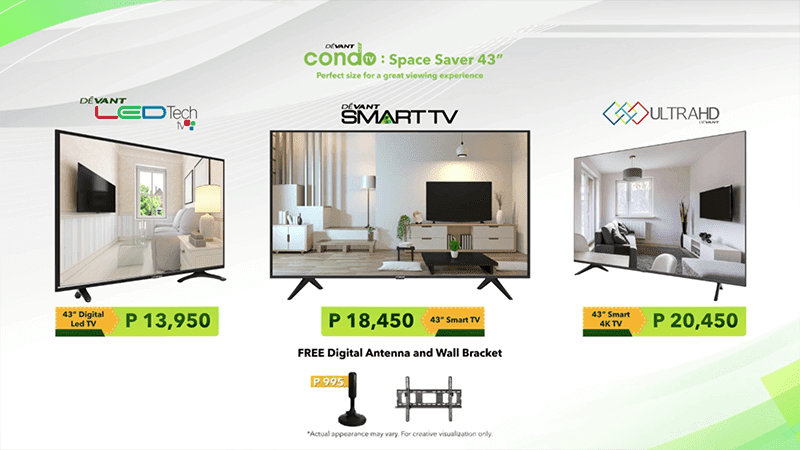 """Devant launches ultra-affordable Condo TV: Space Saver 43"""" TVs in the Philippines!"""
