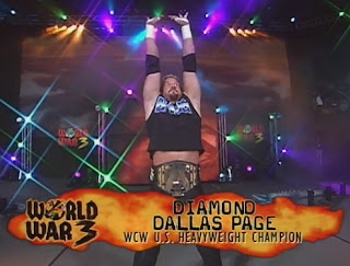 WCW World War 3 1998 - Diamond Dallas Page defended the US title against Bret Hart