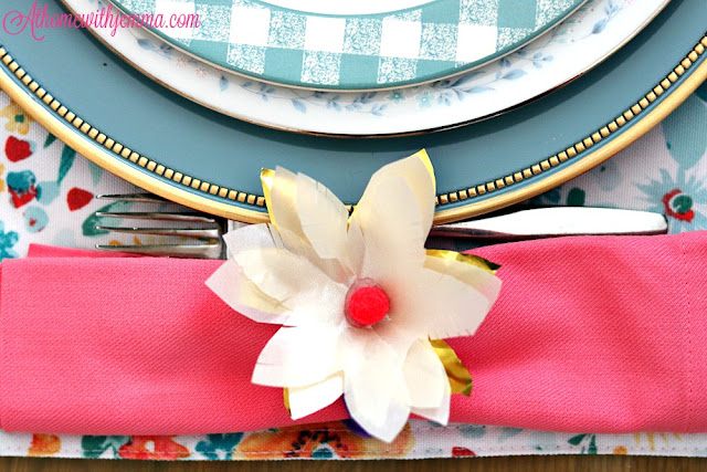 diy, handmade, napkin, ring, craft, easy, paperflower, cardstock, athomewithjemma