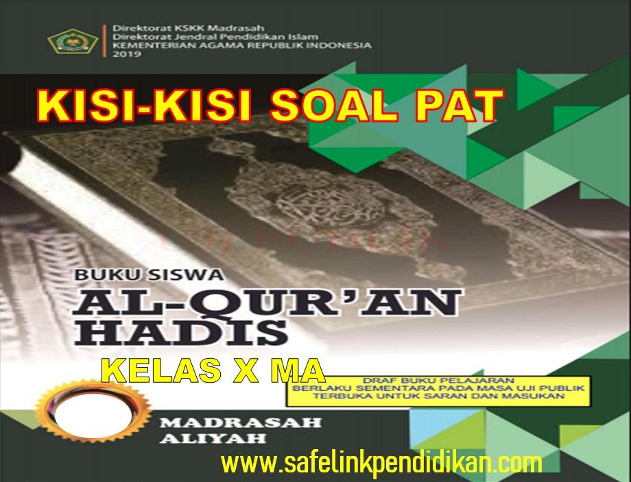 Kisi-kisi Soal PAT Al-Qur'an Hadis Kelas 10