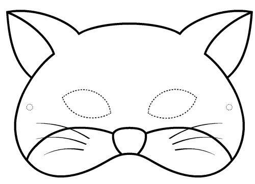 Tranh tô màu mặt nạ con mèo