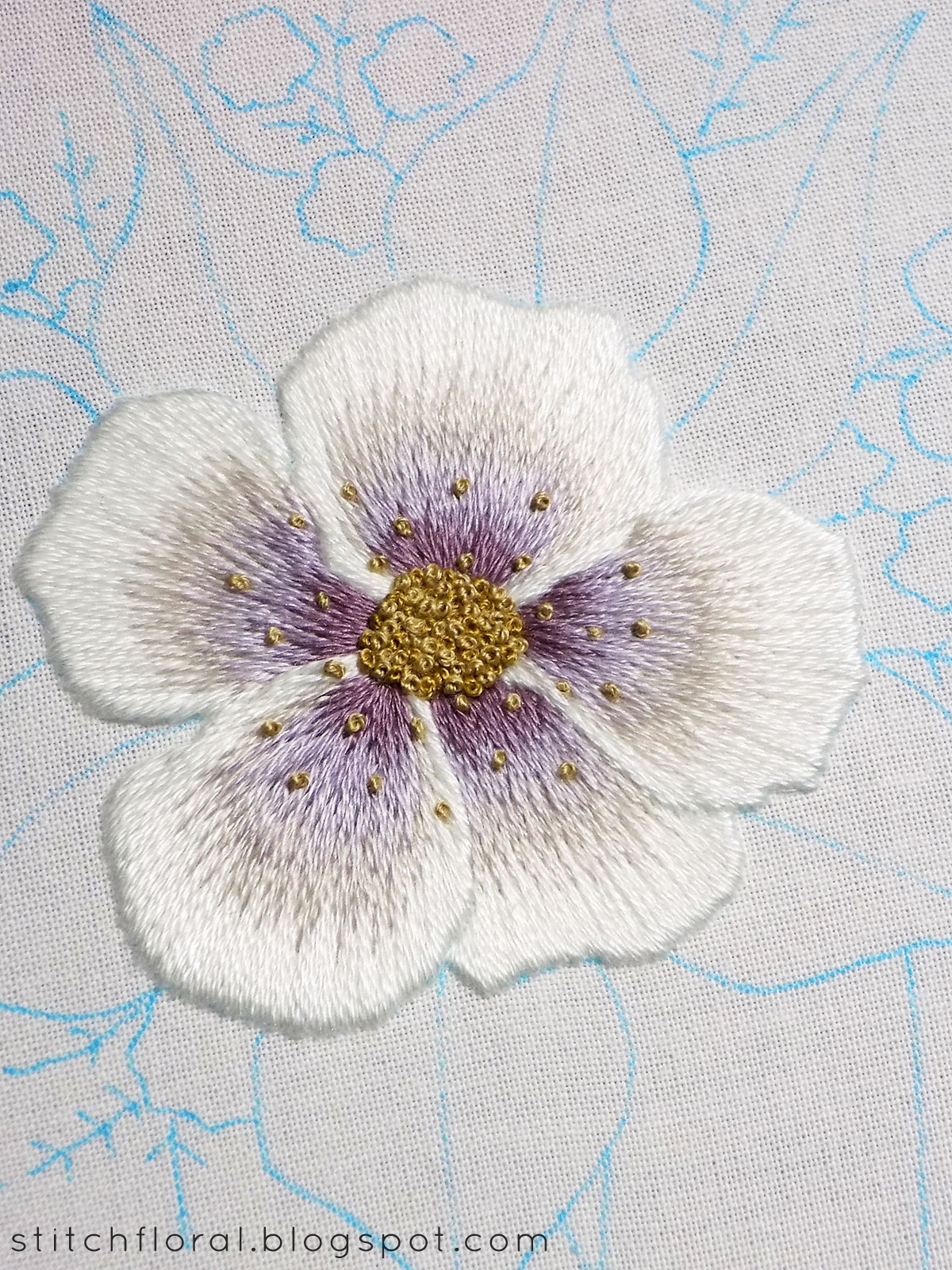 How To End Embroidery : embroidery, Start, Embroidery, Thread:, Updated, Posts, Stitch, Floral