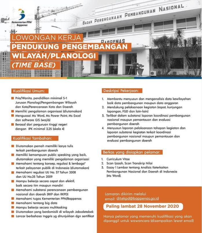 Lowongan Kementerian PPN/Bappenas (Update II)