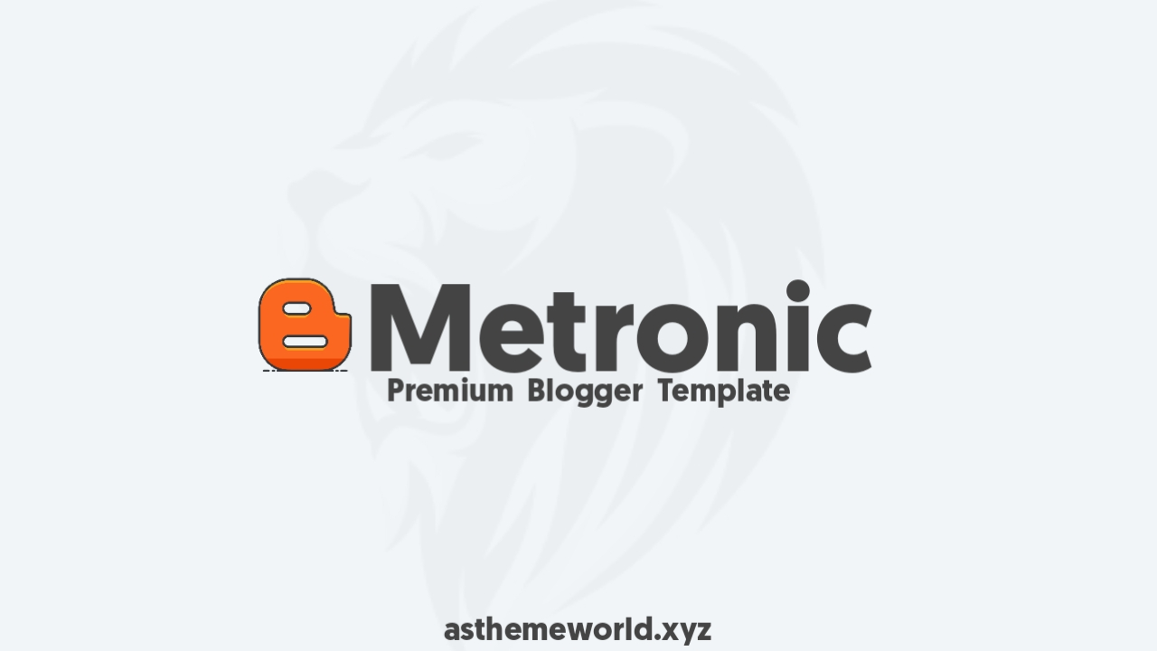 Metronic Blogger Template Free Download