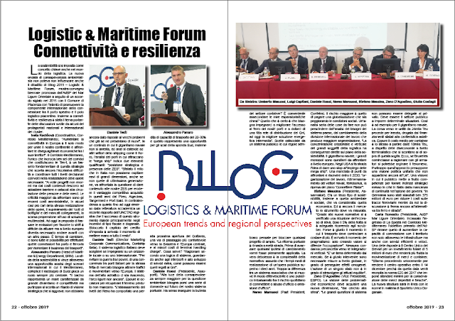 OTTOBRE 2019 PAG. 22 - Logistic & Maritime Forum Connettività e resilienza