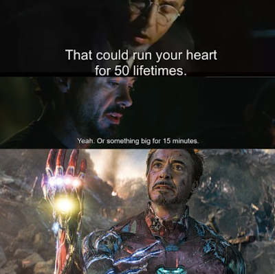 How did the Arc reactor help Tony stark to Snap in marvel's EndGame?
