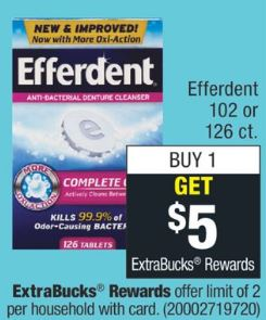 Efferdent cvs deal