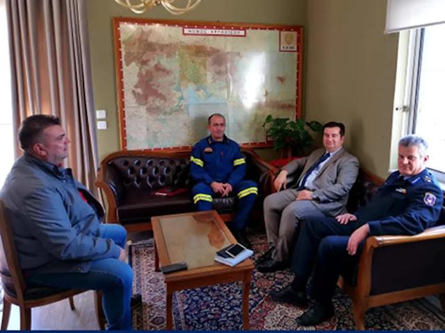 Συνάντηση Μαλτέζου με τον νέο περιφερειακό διοικητή της Π.Υ. Πελοποννήσου συναντήθηκε