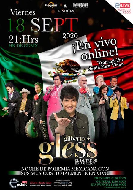 Gilberto Gless dará su segundo show online a través de Eticket Live