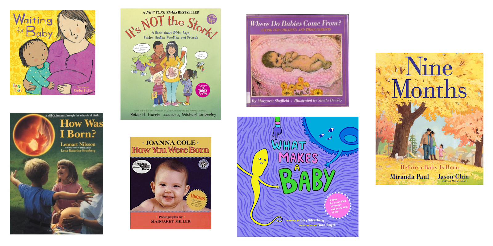 Montessori friendly books for preparing for a new baby or sibling.