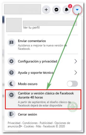 Cambiar diseño clásico de Facebook 2020